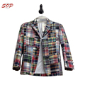 Creative 65% Polyester 35% Cotton Colorful Kids Jacket