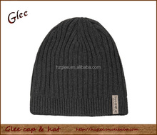 Woven label design your own winter hat/knitted beanie hat/winter knitted wool hat