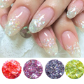 2015 Newest 12 sweet colors glitter powder/sticker for fashion nail decoration