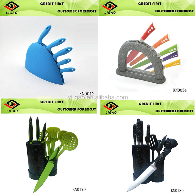 cheap price knife set with good quality/PP handle with PP block