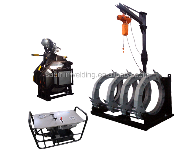 SKC-B1200H hdpe butt fusion welding machine for welding PP PE PVDF pipes
