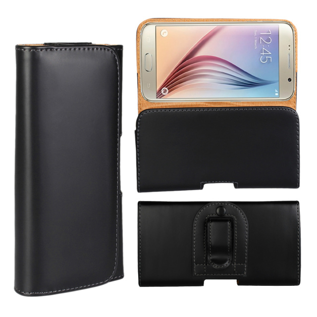 Plain pattern holster belt clip pouch case For Samsung S6