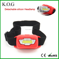 New Flood Detachable LED Headlamp, Silicon Headlamp, COB Headlamp with red light