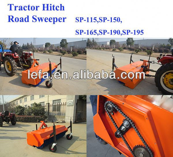 Tractor Hitch Nylon Brush sweeper snow blower