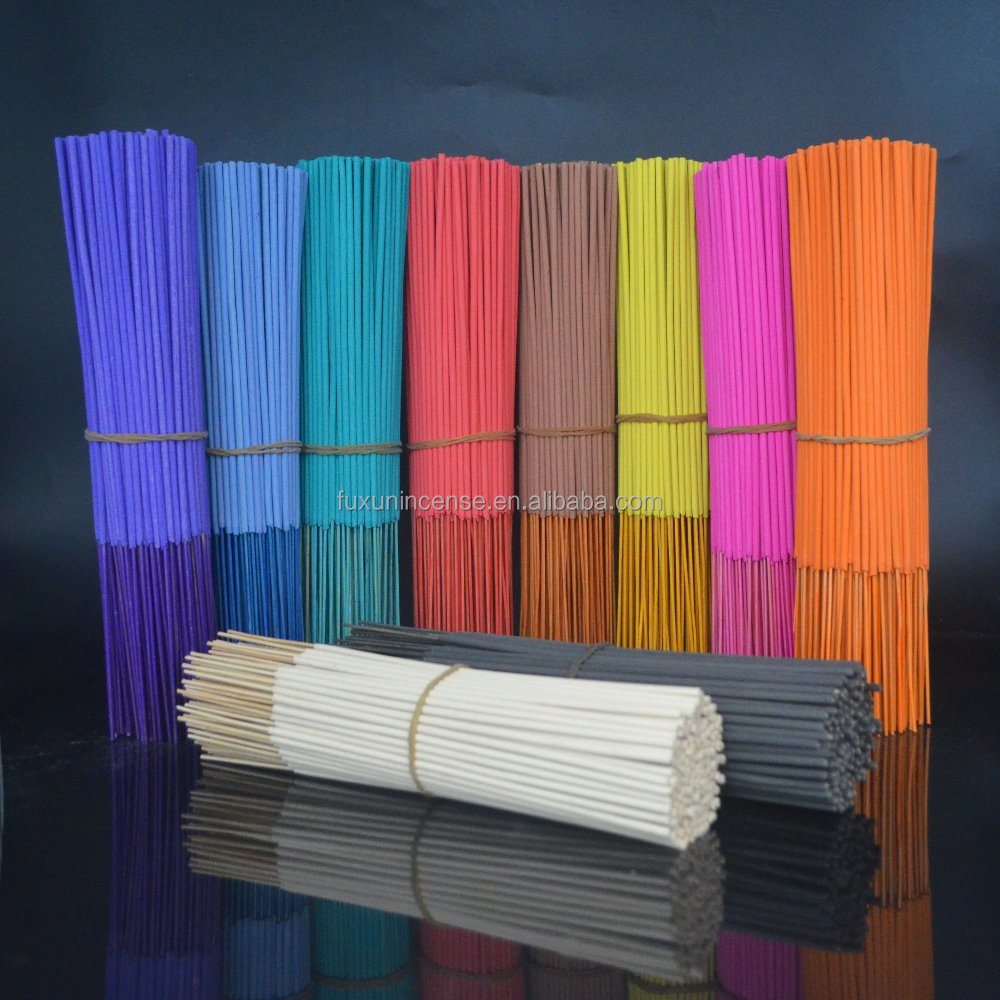 8, 9 inch unscented machine-made india color incense sticks