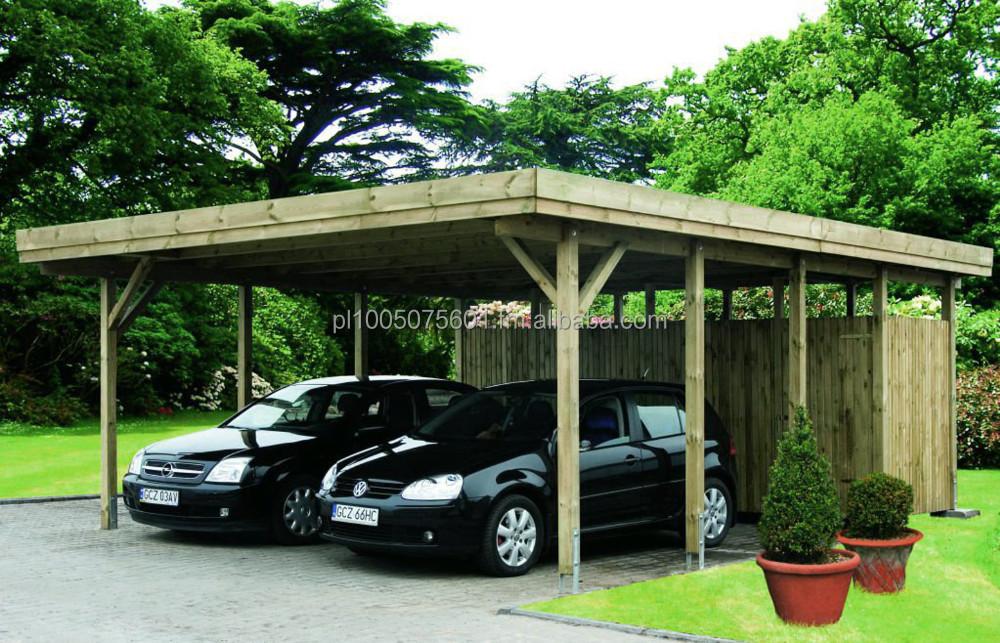 Hannover dubbele houten goedkope carport garages luifels for Carport hannover