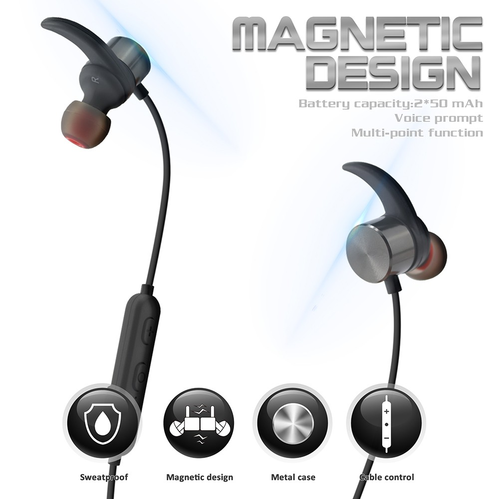 New arrival R1615 magnetic bluetooth sports earphone charging earbuds/headphone wireless USB micro charging port headphone