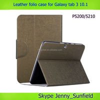 Tablet case cover pu slim flip leather case for samsung galaxy tab 3 10.1 P5200, for samsung galaxy tab 3 10.1 case