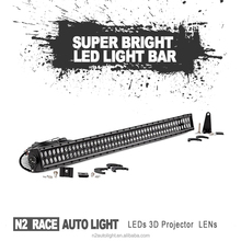 "N2 Lifetime Warranty 4x4 Accessories Black Style 50"" Straight Off Road Led Light Bar Roof Windshield Mount Brackets"