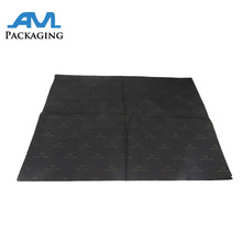 two sides black printing with custom logo gift packaging silk tissue cotton paper