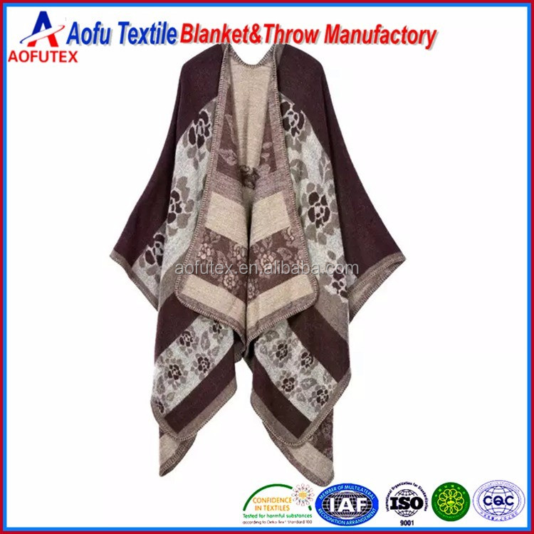 Cape shawl wholesale christmas cloak scarf blanket winter spring loose style Pashmina Plaid ladies shawl