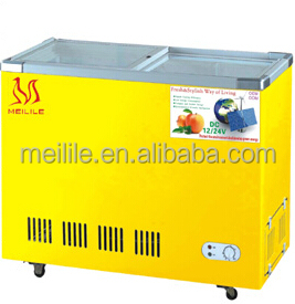 Meilile SCD-289 DC&Solar Glass door Freezer