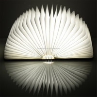 LED Rechargeable Folding Book Light night Changeable Shape Battery Operated Fixture Beautiful Table Lamp Lights