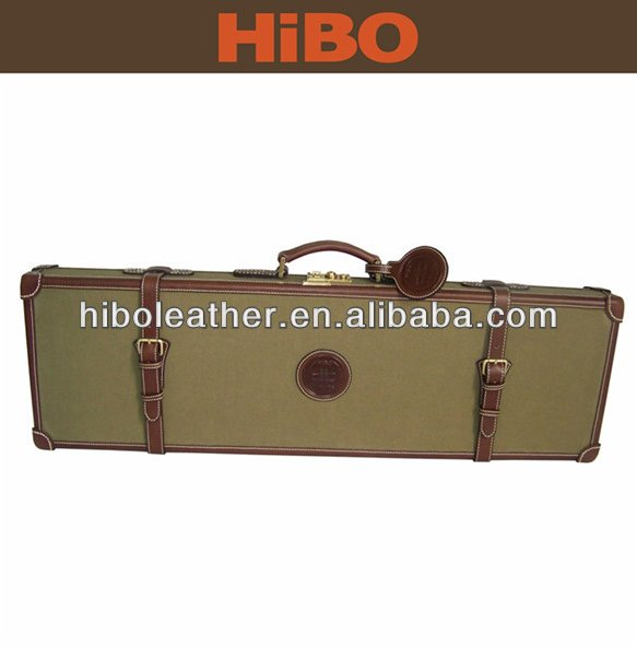 Leather and canvas hunting carrying cases