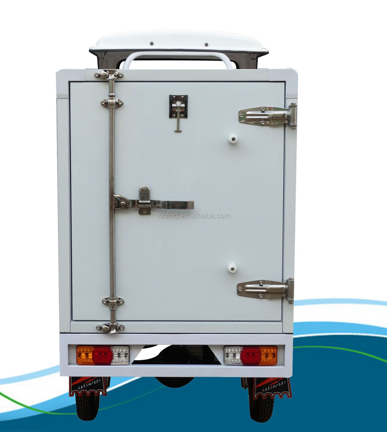 new arrival electric Cargo Freezing Refrigerate with Electric Refrigerator Cargo Box Ice cream refrigerated tricycle
