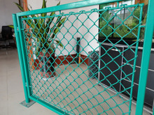 50 x 50 green chain link mesh outdoor playground fences