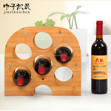2017 Hot Sale New Wine Display Rack Korean SiliconWooden Bamboo Kitchenware