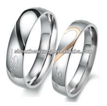 2013 New arrive couple ring cute Anniversary ring for lovers