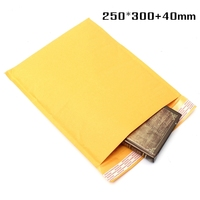 250*300+40mm Top Quality Kraft Bubble Envelopes Padded Mailers Self-Seal Bags Packing Post
