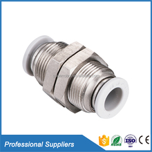 Hydraulic fitting coupling PMM bulkhead union copper pipe nipple fitting