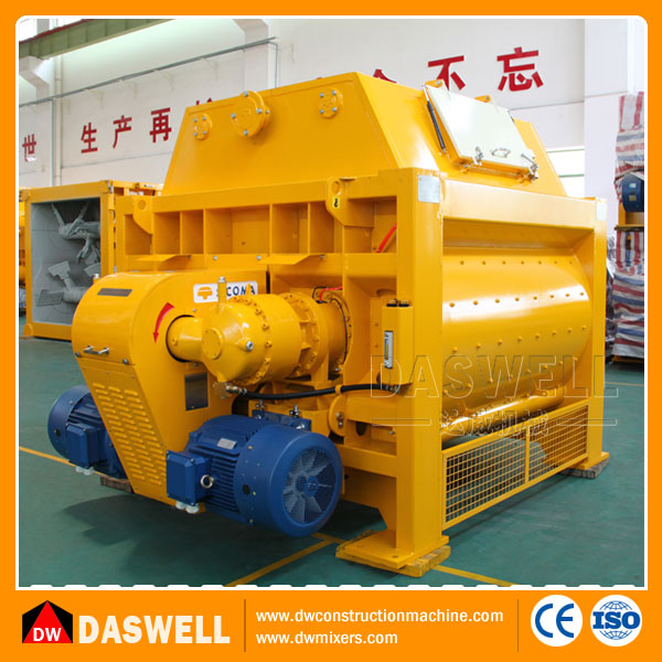 Electric 1.5m3 Fully Automatic Fixed Twin Shaft Concrete Mixer