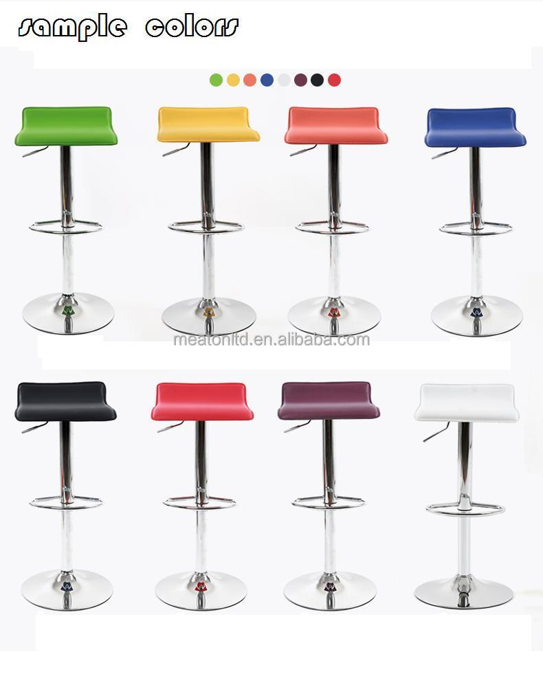 Modern Swivel Adjustable Chromed Frame And PVC Seat Barstool CL - 1310