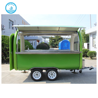 New style double-shaft stainless steel concession stand trailer japan food cart
