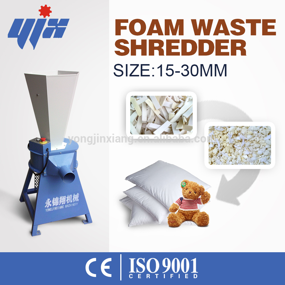 Factory directly sell plastic shredder/bubble wrap film crusher China