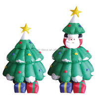 150cm/5ft inflatable santa claus and christmas tree with light can up and down activity for christmas decoration