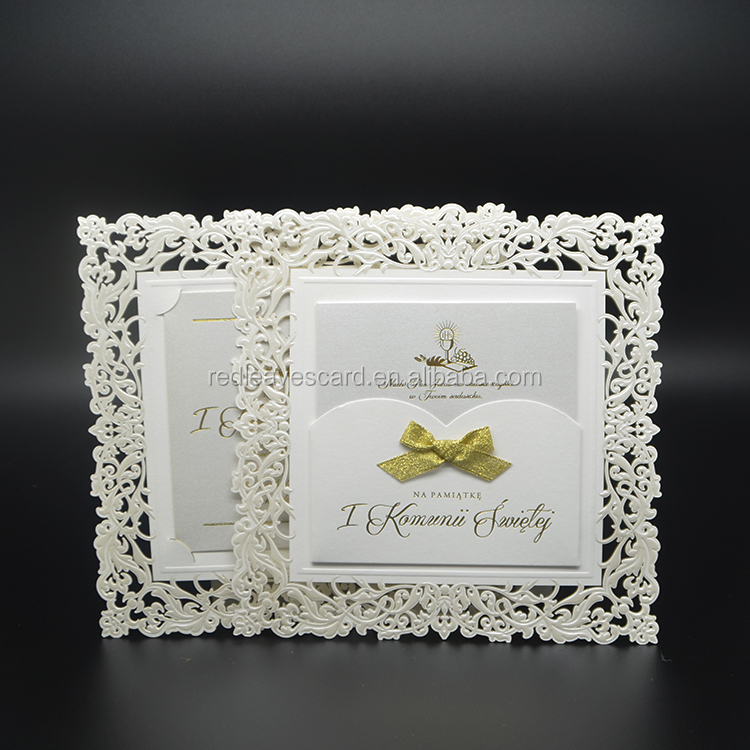 Unique Design Embossing pocket fold pebble embossed wedding invites for Wedding Stationers