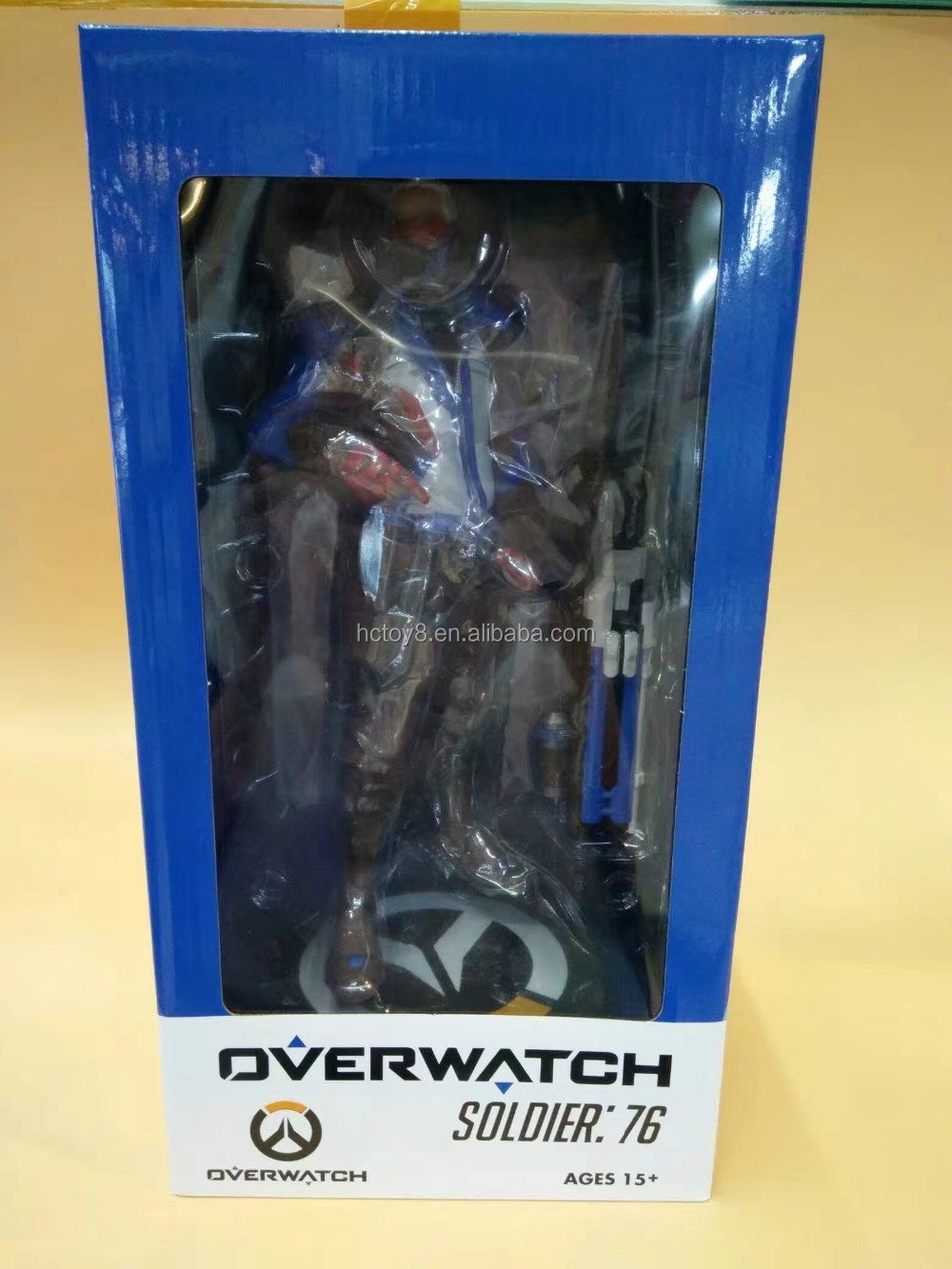 Gzltf Overwatch Black Soldier:76 PVC Action Figure