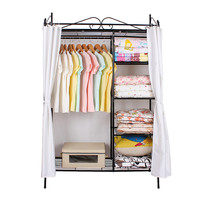 high quality folding steel godrej almirah designs/wardrobe cabinet/ metal bedroom wardrobe