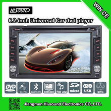 Cheap price 6.2'' touch screen 2 din audio for car with gps