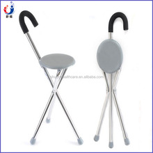 Three legged canes folding stool walking sticks with seats