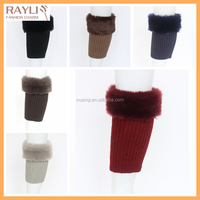 Ladies faux fur fluffy boot socks warm winter boot cuffs, fashion trendy furry short leg warmers leggings