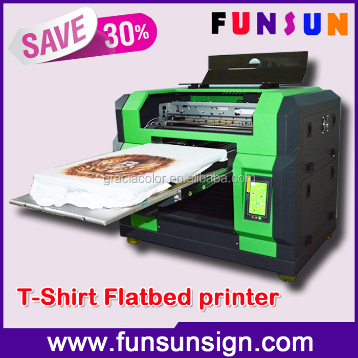Digital flatbed direct jet t shirt printer in a3 size for for T shirt digital printer