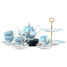 Tea party supplier Awalong New Design Royal Albert Style Afternoon Teapot Cup Plate Set / Bone China Tea Set
