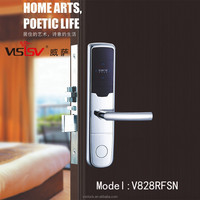 Hot RFID hotel system keyless door lock electronic security door cylinder lock For House, Office and Hotel