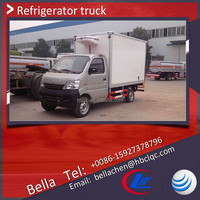 China ice cream van, gasoline ice box truck , MINI freezer van for sale