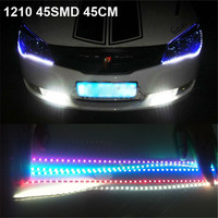 Car Styling Accessories 30cm DIY Waterproof Flexible Car Light 15SMD LED DRL Daytime Running Lamps Soft Strips Lights