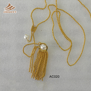 New Designs Necklace Of Fashion Sweater Chain With 24K Gold Chain