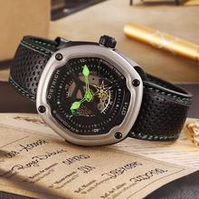 Domineering male model mechanical watch hollow models West Rail movement male watch nylon strap