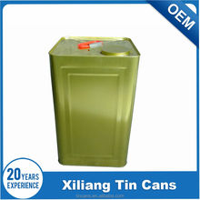 18 Liter square paint tin can screw top with handle