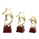 Custom logo popular cricket sports game figure plastic trophy