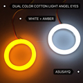 dual color cotton light LED halo ring angel eyes white amber
