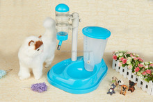 Dog Cat Pet Food Feeder and Water Drinking Fountain