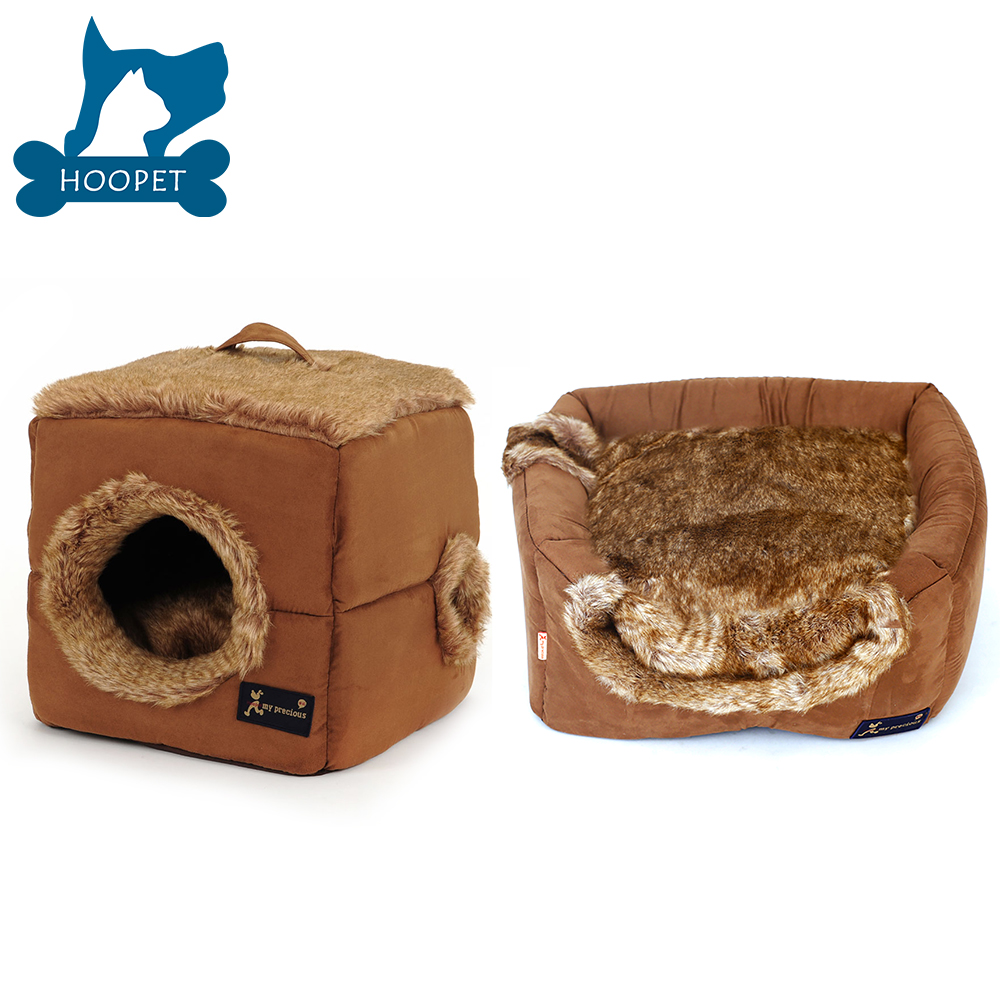 Plush Tent Shaped Dog Basket Small Dog Bed