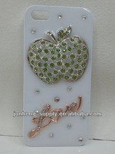 Milk White glue bling case for iphone5