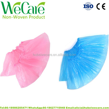 Disposable PE Plastic Rubber Shoe Cover