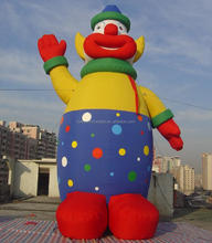 Factory outlet inflatable clown cartoon